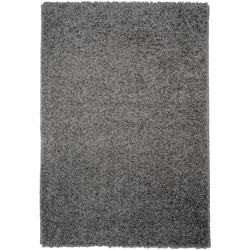 Shag Solid Grey Area Rug (3'3 x 4'7)
