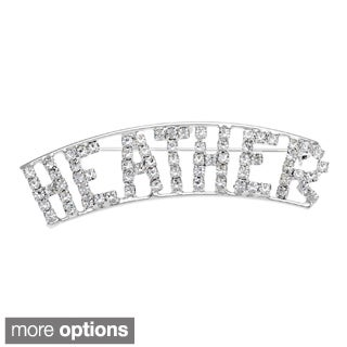 Detti Originals Silver 'HEIDI' and 'H Collection' Crystal Name Pin