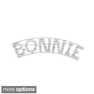 Detti Originals Silver 'BONNIE' Crystal Name Pin