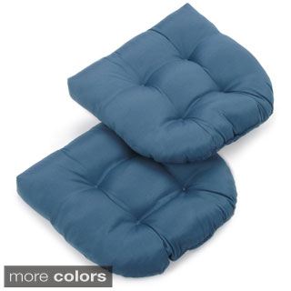 Blazing Needles 19-inch U-shaped Indoor Chair Cushion (Set of 2)