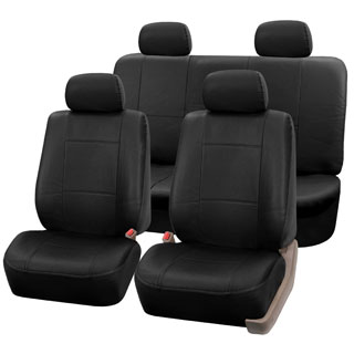 FH Group Black PU Leather Universal Full Set Solid Bench Seat Covers|https://ak1.ostkcdn.com/images/products/P15086604a.jpg?_ostk_perf_=percv&impolicy=medium
