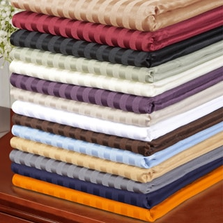 Superior Wrinkle Resistant Stripe Microfiber Sheet Set