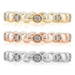 Victoria Kay New! 14k Gold Diamond Accent Stackable Band