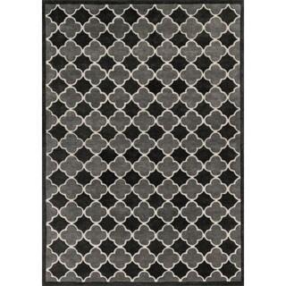 Hand-tufted Logan Black/ Grey Wool Rug (9'3 x 13')
