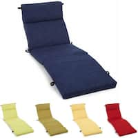 "Blazing Needles 72-inch All-Weather Chaise Lounge Cushion - 72"" x 24"""