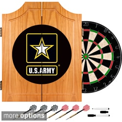 U.S. Army Wood Dart Cabinet Set