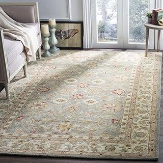 Safavieh Handmade Antiquity Grey/ Beige Wool Rug (5' x 8')