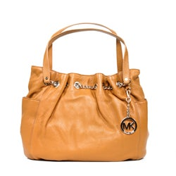 MICHAEL Michael Kors 'Jet Set' Leather Chain Ring Tote Bag