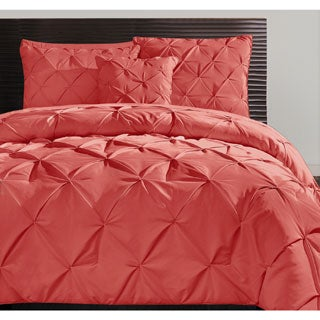 VCNY Carmen 3-piece Pintuck Duvet Cover Set