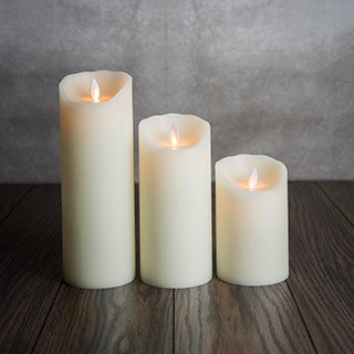 Mystique Smooth 5-inch Ivory Flameless Pillar Candle