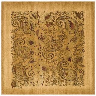 Safavieh Lyndhurst Traditional Paisley Beige/ Multi Rug (4' Square)