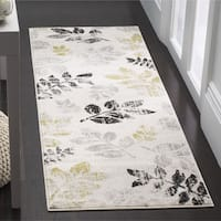 Safavieh Porcello Leaf Print Distressed Ivory/ Gold Runner Rug - 2'4 x 6'7