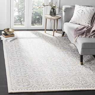 safavieh handmade cambridge moroccan silver ivory rug 9u0027 x 12u0027