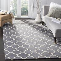 Safavieh Chatham Contemporary Handmade Moroccan Dark Grey Wool Rug (6' x 9') - 6' x 9'