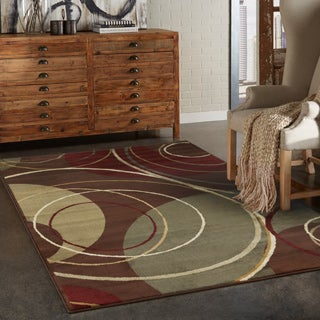 Indoor Brown/ Red Area Rug (9'10 x 12'9)