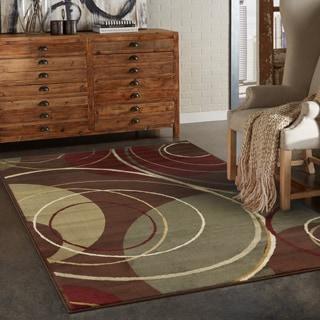 Indoor Brown/ Red Area Rug (9u002710 X 12u00279)