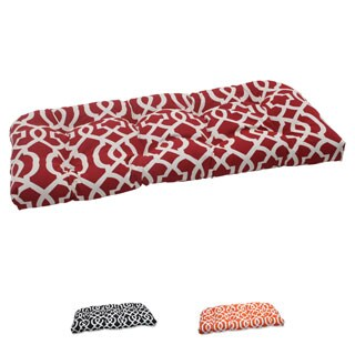 Pillow Perfect New Geo Polyester Outdoor Wicker Loveseat Cushion