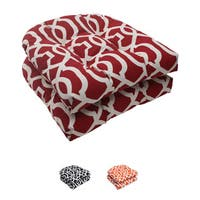 Pillow Perfect Outdoor New Geo Wicker Seat Cushion (Set of 2)