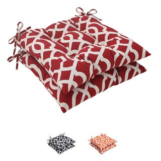 Pillow Perfect Outdoor New Geo Tufted Seat Cushion (Set of 2)