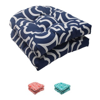 Pillow Perfect Outdoor Carmody Wicker Seat Cushions (Set of 2)