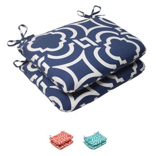 Pillow Perfect Outdoor Carmody Rounded Seat Cushions (Set of 2)