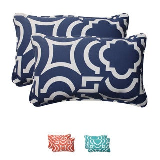 Pillow Perfect Outdoor Carmody Corded Rectangular Throw Pillows (Set of 2)