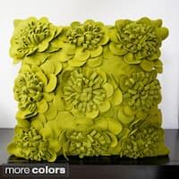 Daba Felt Flowers Decorative Pillow (22 x 22)