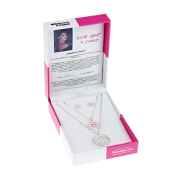Whatever It Takes Penelope Cruz Double Coin Necklace/ Stud Set