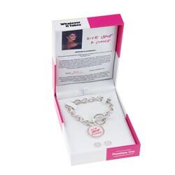 Whatever It Takes Penelope Cruz Toggle Bracelet/ Stud Set