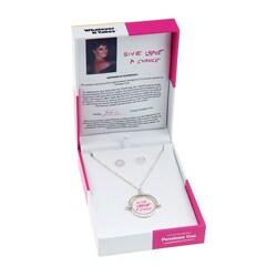 Whatever It Takes Penelope Cruz Spinner Necklace/ Earring Set