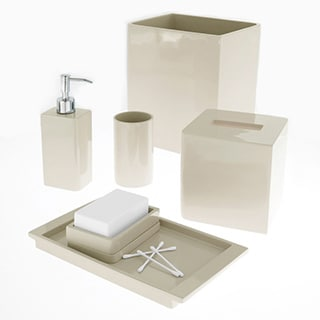 Solid Lacquer Ivory Bath Accessory Collection