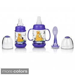 Nuby Infant Printed Bottle Feeder Set