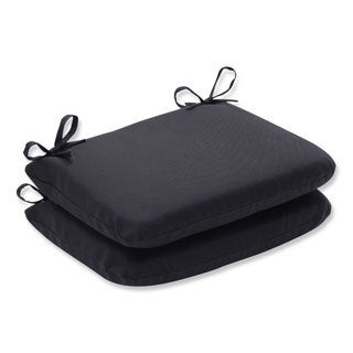Pillow Perfect Outdoor Fresco Rounded Seat Cushion (Set of 2)