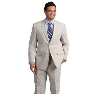 Adolfo Men's Tan Mini Pinfeather Suit (3 options available)