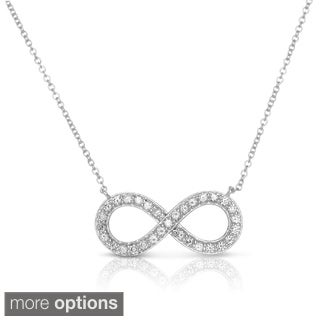 Eloquence 14k Yellow Gold 1/2ct TDW Diamond Infinity Necklace (H-I, I1-I2)