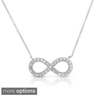Eloquence 14k Yellow Gold 1/2ct TDW Diamond Infinity Necklace