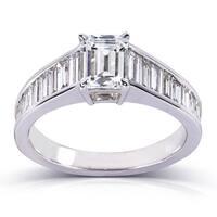 Annello by Kobelli 14k White Gold 2 1/5ct TDW Certified Diamond Ring (F, SI1)