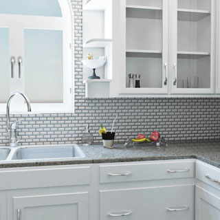 SomerTile White Porcelain 12-inch x 12-inch Victorian Subway Beveled Mosaic Floor and Wall Tile (Case of 10)