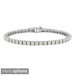 14k Gold 2 1/3ct TDW Diamond 8-inch Tennis Bracelet