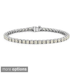 14k Gold 2 1/3ct TDW Diamond 8-inch Tennis Bracelet