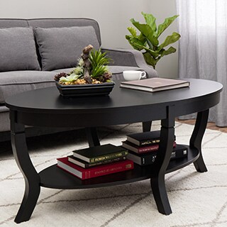 Stones & Stripes Lewis Distressed Black Coffee Table