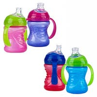 Nuby 8-ounce 2-Handle No-Spill Super Spout Cup (Pack of 2)