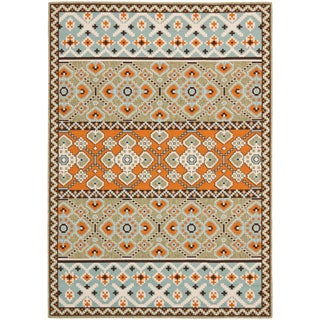 Safavieh Indoor Outdoor Veranda Green Terracotta Rug 2