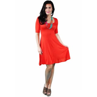 24/7 Comfort Apparel Women's Solid Knee-length Dress (More options available)