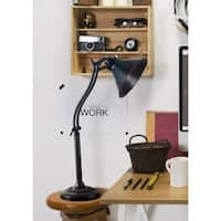 Design Craft Marr Oil-rubbed Bronze Adjustable 3-way Desk Lamp