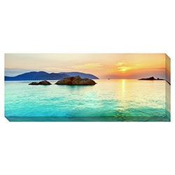 Gallery Direct Ocean Sunrise Oversized Gallery Wrapped Canvas