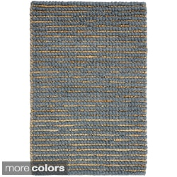 Kosas Home Handwoven Santa Clarita Wool and Jute Grey Rug (2' x 3')