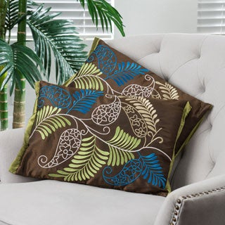 Home Ferns Brown Pillows (Set of 2)