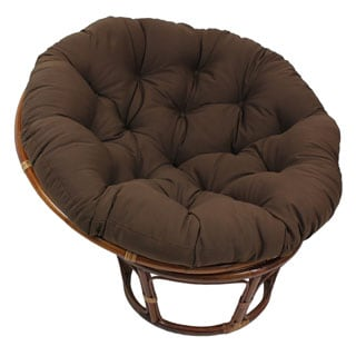 blazing needles papasan 48inch twill cushion