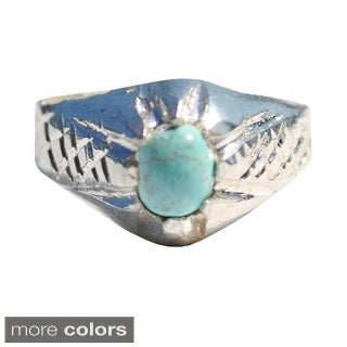 Handmade Tribal Sterling Silver Ring (Afghanistan) (More options available)